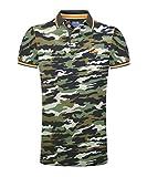 M.Conte Herren Poloshirt Kurzarm Stretch Polohemd T-Shirt Polo-Shirts für Herren Pique Basic Men's Plain Royal Blau S M L XL XXL XXXL Romano (XXXL, Schwarz Grün)