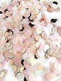 Konfetti rosegold mehrfarbig, 1cm rund, 30g, 1500 Stück – elegante und moderne Partydeko – Geburtstag, Hochzeit, Baby-shower, Silvester