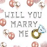 JeVenis 12 PCS Silver Will you marry me Balloons Marry Me Ballons Heiratsantrag Ideen Hochzeitsvorschlag Dekorationen Dekor